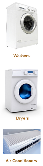 Washers Dryers and Air Conditioners