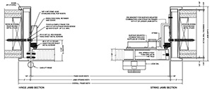 STC SCIF Door Diagram  sc 1 st  Houston Starr & SCIF STC Sound Transmission Class Stock Doors | Houston Starr